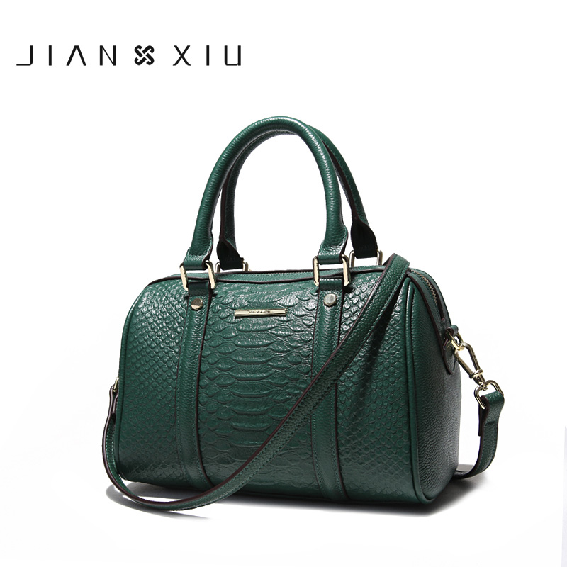 JIANXIU Brand Women Designer Handbags High Quality Genuine Leather Bags Crocodile Texture Pattern Shoulder Messenger Bag Tote