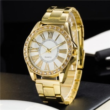 Explosion of the gold diamond Roman numerals fashion casual lady watchesK1-B40LC