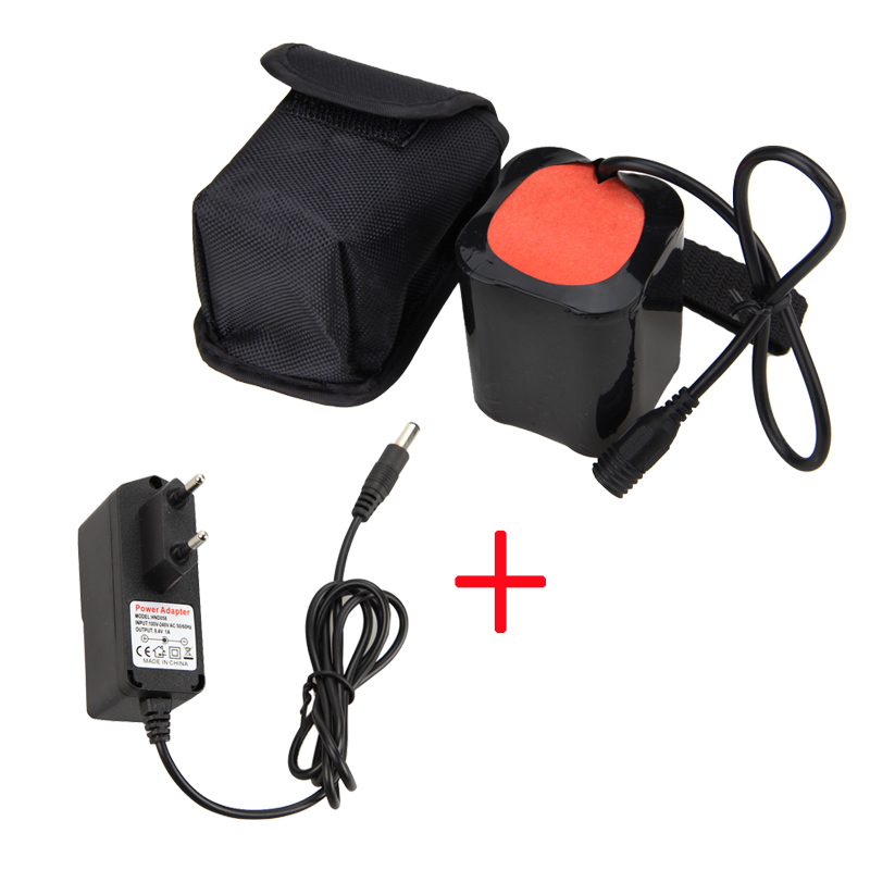 20000mAh 8.4V Battery Pack For T6 LED Bike Bicycle Light Head Torch Lamp +Charger hot sale 3x cree xml t6 led headlamp bike light 5000 lumen 18650 led head light 4x18650 battery pack charger bike rear light