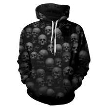 YFFUSHI 2019 Men Hoodies 3D Print Hip Hop Hoodies Men Coat Jacket Skull Sweatshirts Male Oversized 5XL 3d Pullover Men