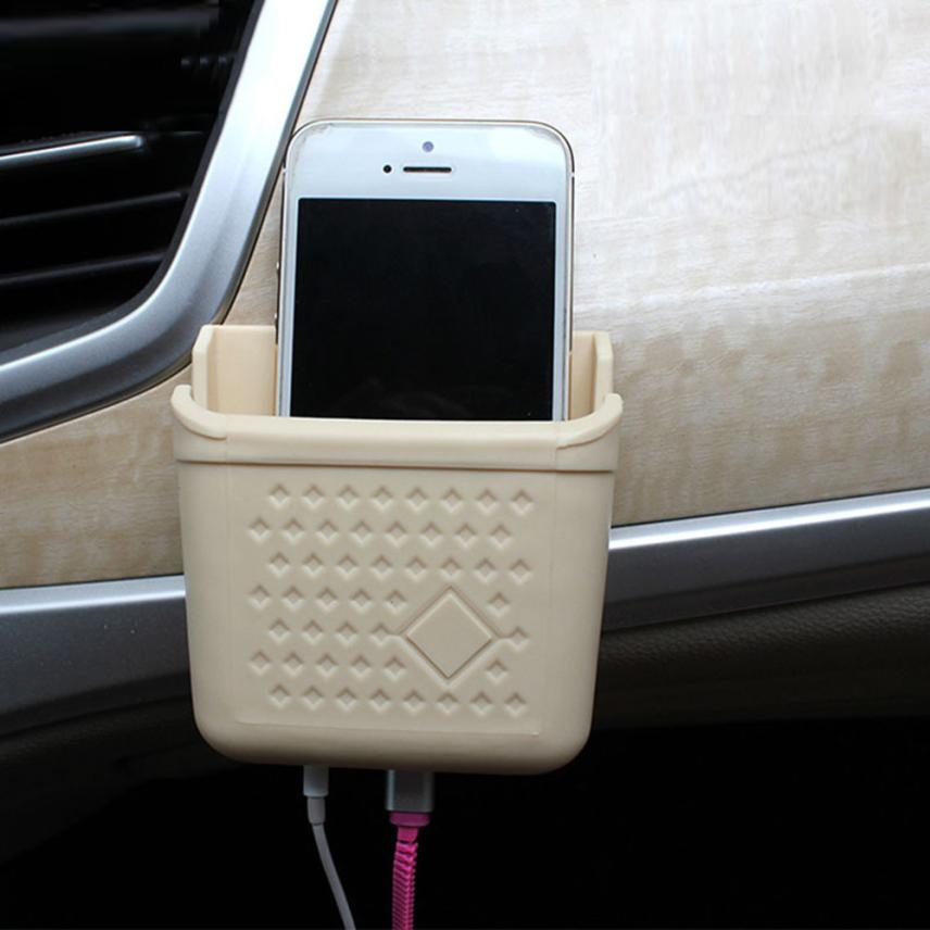 Multifunction Auto Storage Box Case Phone Charge Hole Cradle Organizer Holder Apr19 Drop Shipping