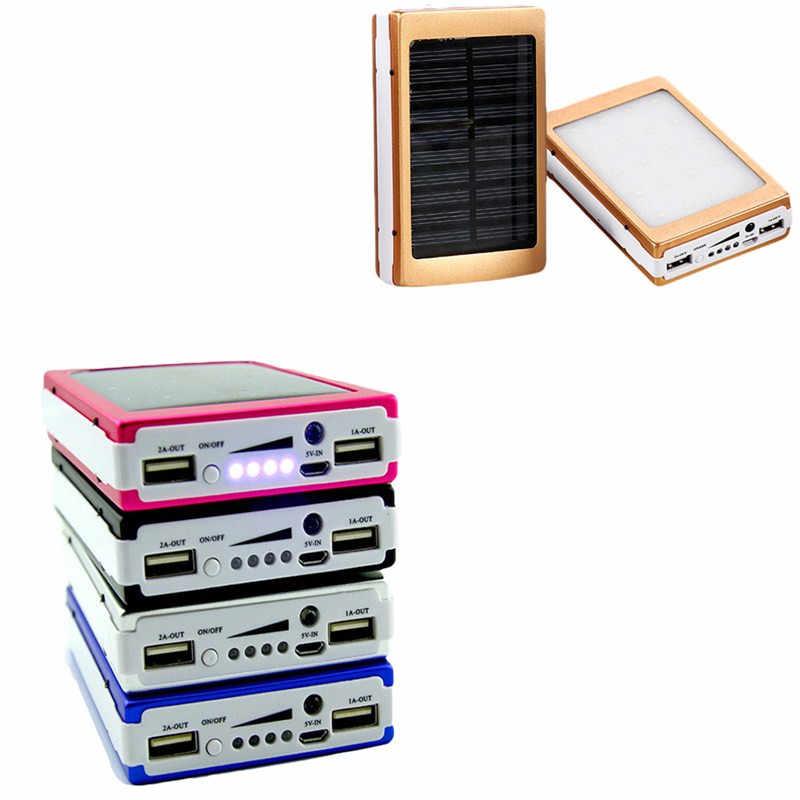 DIY 5x18650 портативное зарядное устройство, портативное зарядное устройство, 18650 солнечное зарядное устройство, чехол-коробка с двумя usb-портами, зарядное устройство для телефона, фонарик