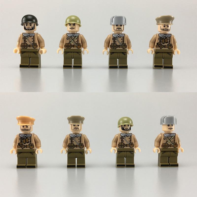 2018 Новый WW2 Советской Армии Военной обороны войны в Москве в стиле милитари солдаты оружие строительные блоки игрушки совместимы LegoINGls