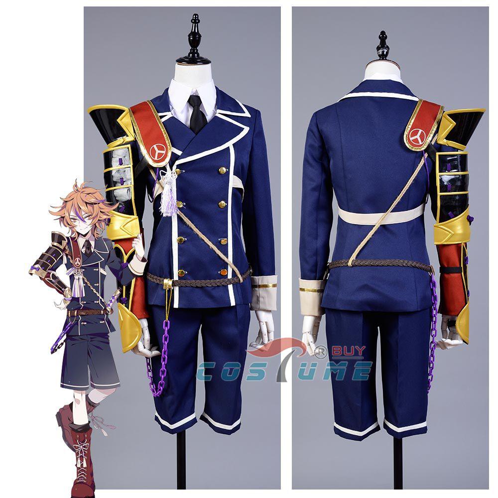 Touken Ranbu Gotou Toushirou Outfit Uniform Halloween Nakigitsune Cosplay Costumes With Armor For Men