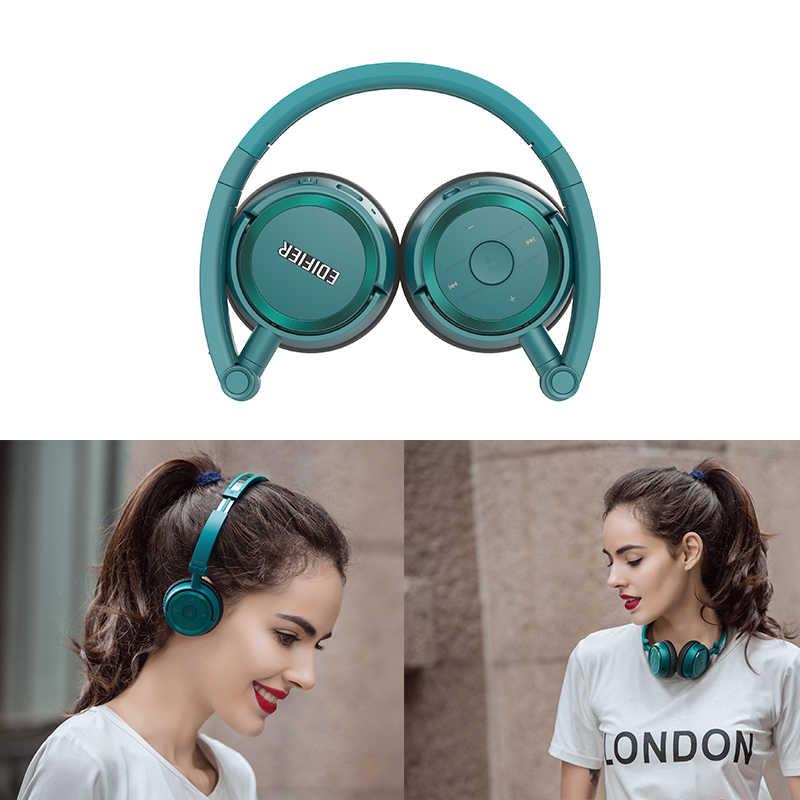 EDIFIER W675BT HIFI Bluetooth słuchawki na ucho automatyczna redukcja szumów zestaw słuchawkowy Bluetooth 4.1 zestaw słuchawkowy z mikrofonem NFC podwójny Model