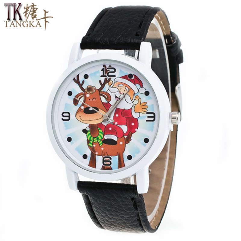 High Quality Leather Santa Claus New Year Watches men and women students watch Christmas gift casual ladies quartz watch outdoor christmas decoration inflatable santa claus 20ft high 6m high factory direct sale bg a1188 toy