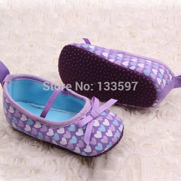 Niñas Niños Dulce Heartborn Bebé Zapatos de Lona Mary Janes Polka Arco Prewalker
