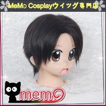 Levi /Attack On Titan Black Short Cosplay Anime Wig