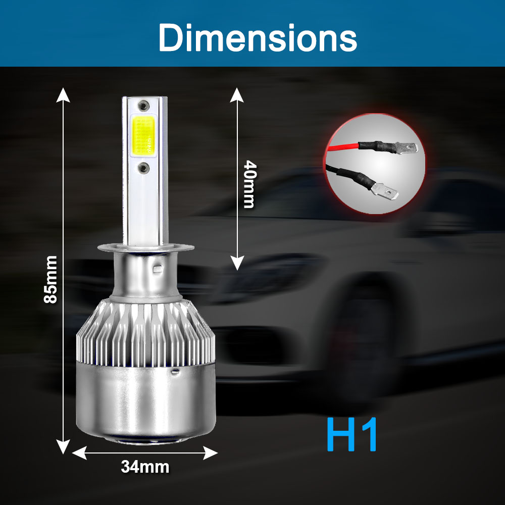 Image 2 - 2Pcs Car Lights Bulbs LED H4 H7 9003 HB2 H11 LED H1 H3 H8 H9 880 H27 9005 9006 HB4 H13 9004 9007 Auto Headlights 72W COB 6000K-in Car Headlight Bulbs(LED) from Automobiles & Motorcycles