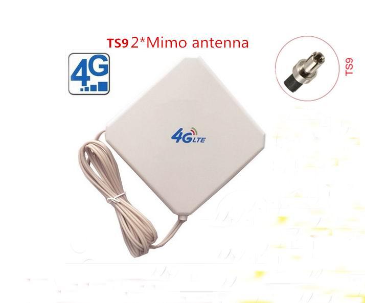35dBi 4G external indoor LTE WIFI Antenna Signal Amplifier TS9 Connector for E589 E392 ZTE MF61