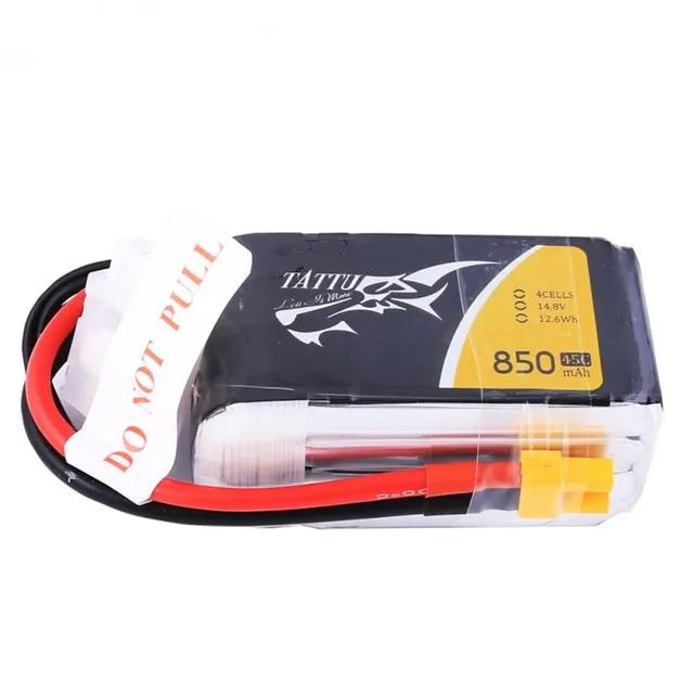 Tattu Lipo Battery 14 8V Lipo 4S 850mAh Battery 45C XT30 Plug RC Battery for FPV Drone 150 size Multirotor Quadcopter Frame