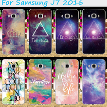 Hard Plastic Phone Cases For Samsung Galaxy J7 2016 J710 J7108 J7109 Phone Shell Made in High Quality Plastic Mobile Phone Cover
