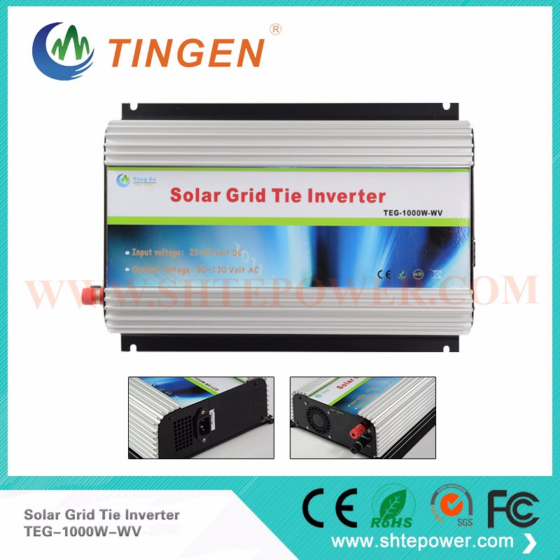 GTI 1000W Grid Tie Inverter, On Grid Inverter 1KW Grid Tied Inverter, DC22-60V to AC180V~260V solar power on grid tie mini 300w inverter with mppt funciton dc 10 8 30v input to ac output no extra shipping fee