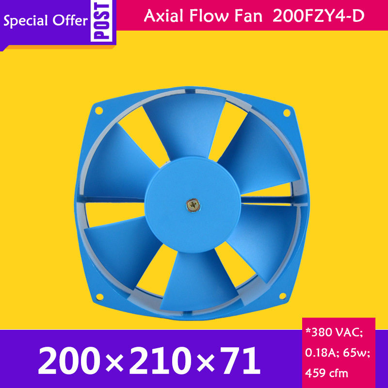 380V AC 65W 0.18A 200*210*71mm Low Noise Cooling Radiator Axial Centrifugal Air Fan Blower 200FZY4-D Axial flow cooling fan original bn12054b48u p001 48v 0 66a 4 lines centrifugal blower cooling fan