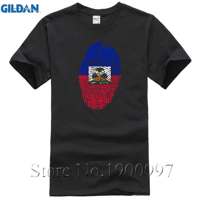 2017 Fashion Short Sleeve Pre-cotton Haiti Flag Fingerprint Men Short T Shirt 3xl Family T Shirt Short Sleeve Mens Formal Shirts We Take Customers As Our Gods