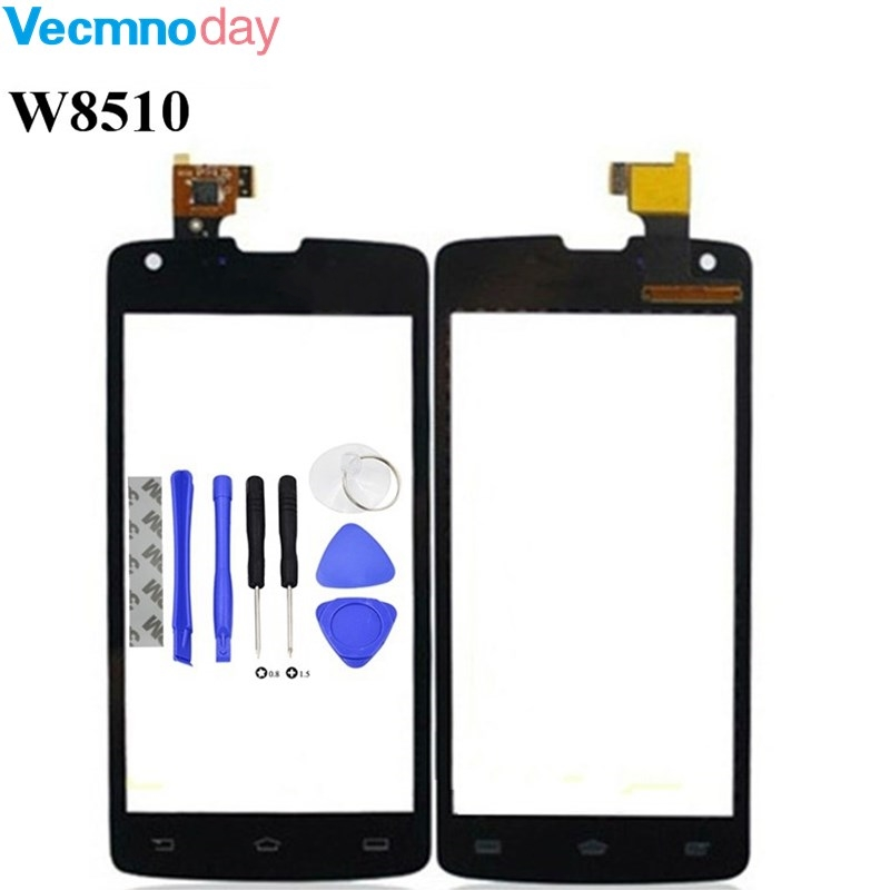 Vecmnoday 4.7inch Touch Panel Sensor For Philips Xenium W8510 Touch Screen Digitizer Front Glass Lens Sensor Touchscreen + tools