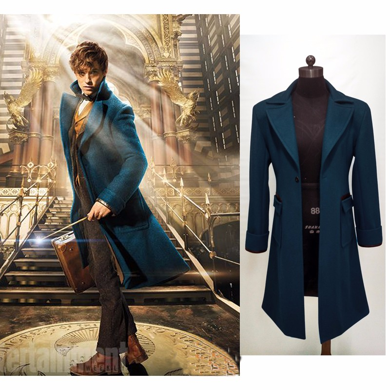 New Fantastic Beasts and Where to Find Them Newt Scamande Cosplay Costume Custom Made