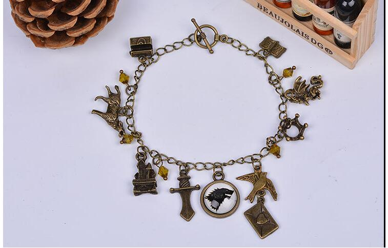 Game of Thrones Sailor Moon Doctor Who Vampire Diaries Pokemon Go Charm Bracelets Mix Style New Sale Colorful Stone