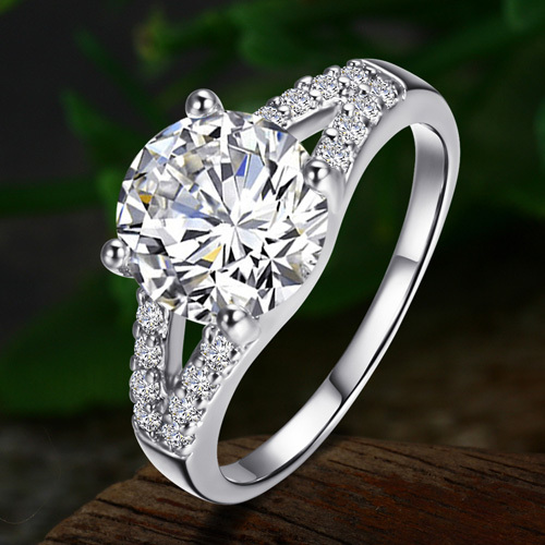 the classic sona 2 karat finger ring drilling married female engagement ring alw1909china - Female Wedding Rings