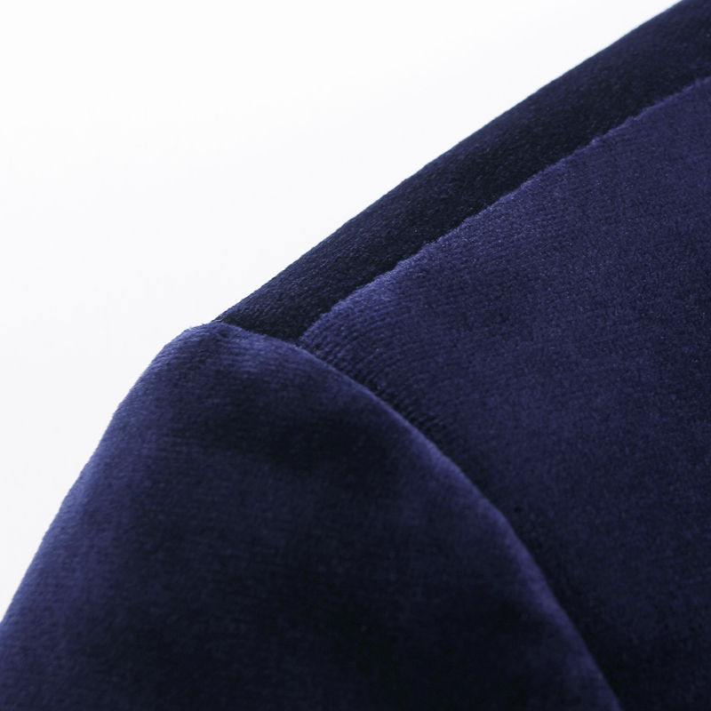 2019 New Mens Blazers Gentlemen High Quality Velvet Blazer Smooth Men's Coats Business Casual Suits Jackets Men Plus Size M 3XL - 3