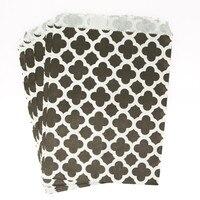 100pcs/lot 5*7 inch Quatrefoil Paper Treat Bags Party Favor Bags Tableware Party  Decorations