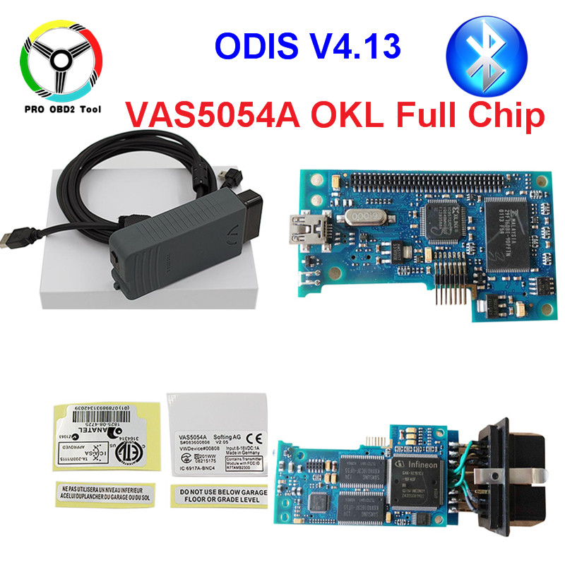 ODIS V4.13 VAS5054A OKI Full Chip VAS 5054A Bluetooth USB For Audi/VW VAS5054 A Support UDS Protocol Car Diagnostic Tool Scanner chuwi hi10 pro 10 1 tablet pc cherry trail z8350 windows 10 android 5 1 4gb 64gb
