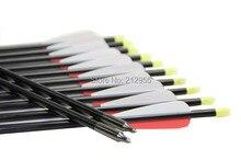 Longbowmaker 12PCS 32 Inches Fiberglass Target Practice Arrows F2RWT2