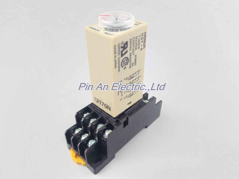 0~30Min 220V H3Y-4 Power On Time Delay Relay Solid-State Timer 4PDT 14Pin&Socket H3Y-4 30Min 1 30min h3y 2 power on time delay relay solid state timer 30min 12v 24 110v 220v please tell us the voltage