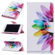 New Arrival for iPhone7 7Plus Fashion Paint Phone Wallet Case Stand Wallet Purse Card Holders Magnetic