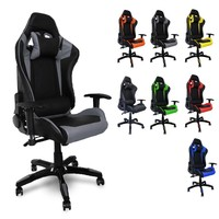 Swivel Work Office Chair Game Computer Racing Chairs Height 135cm Reclining 180 degrees Orange Green Red Black Blue Grey Yellow