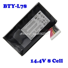 Laptop Battery For MSI GT80 BTY-L78 GT73VR GT83VR 6RF-026CN,2QE-035CN VR 6RE-013CN S5 67SH1 S 14.4V 8 Cell New and Original new bty l77 battery for msi gt72 2qd gt72s 6qf gt80 2qe series ms 1781 ms 1783 wt72