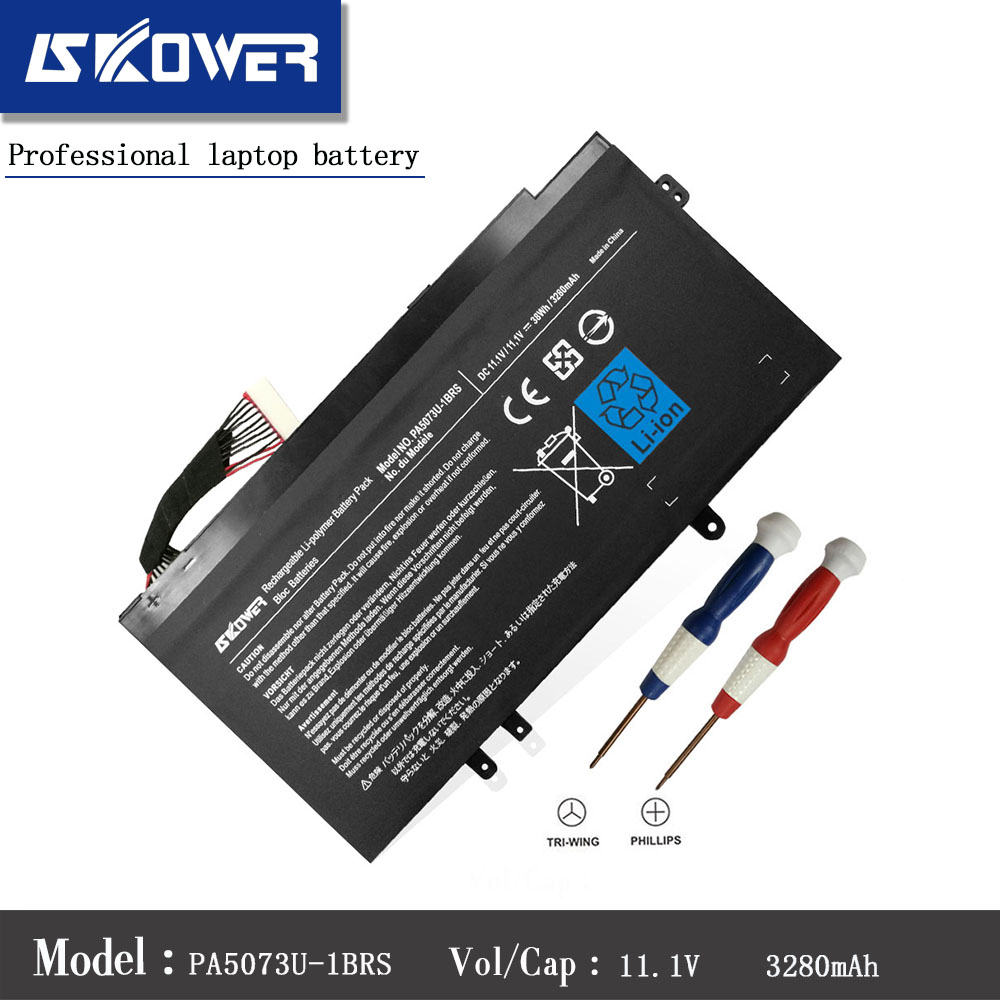 SKOWER 11.1V 38Wh 3280mAh PA5073U-1BRS PA5073U Battery For Toshiba Satellite U925T U920T PABAS267 Series Laptop laptop battery for toshiba pa3465u 1brs pa3457u 1brs pabas067 for toshiba satellite m50 m70 a100 a110 a135