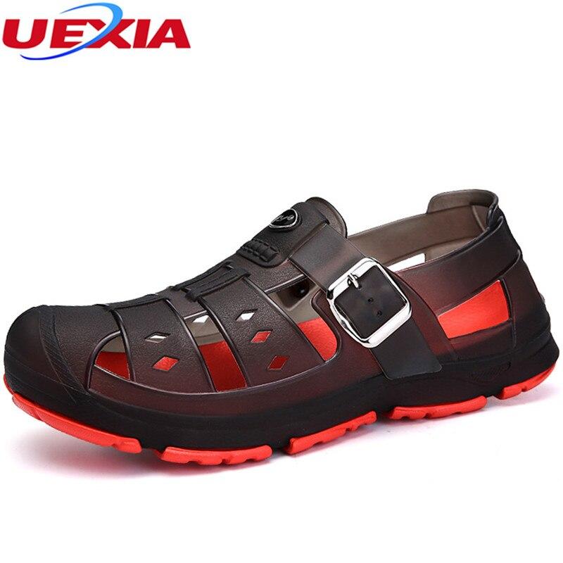 UEXIA Mens Flip Flops Sandals Casual Men Shoes Summer Hollow Fashion Beach Footwear sandalias Sapatos Hembre Sapatenis Masculino