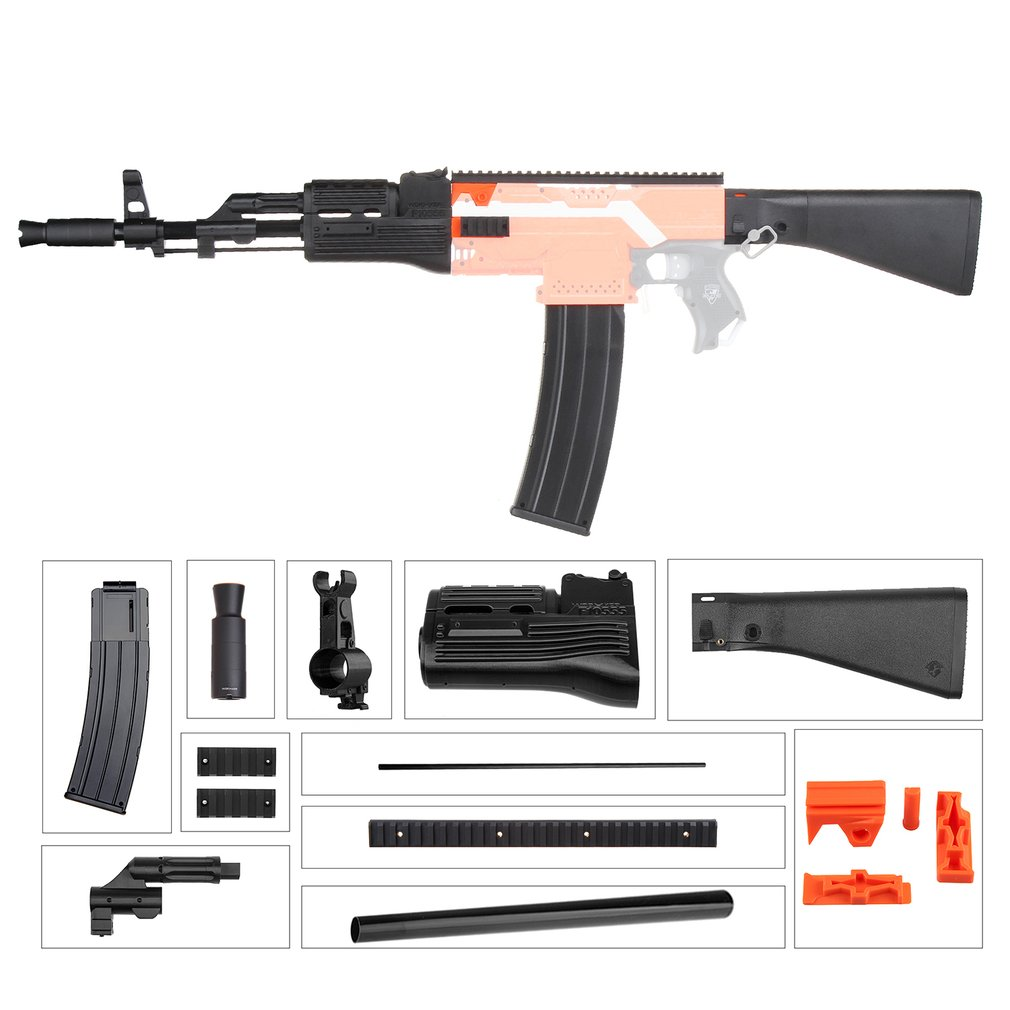 MOD F10555 AK47 Imitation Kit 3D Printing High Strength Plastic Combo For Stryfe Modify Toy For Nerf Parts DIY Toys AccessoryMOD F10555 AK47 Imitation Kit 3D Printing High Strength Plastic Combo For Stryfe Modify Toy For Nerf Parts DIY Toys Accessory