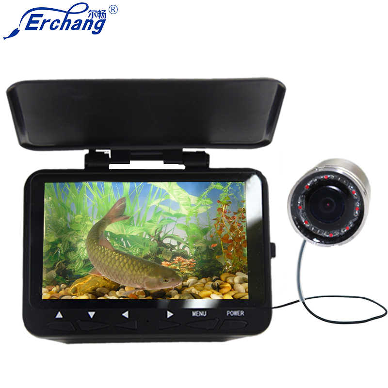"Erchang Underwater Fishing Camera For Ice Fishing 1000TVL 4.3"" Monitor 8pcs Vision IR LED Ice Lake Underwater Fish Finder"