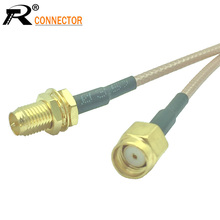 1PCS RP SMA Male to Female Jack RF Coaxial Bulkhead Crimp Connector RG316 Coax Cable Jumper Pigtail 5CM 10CM 15CM 20CM
