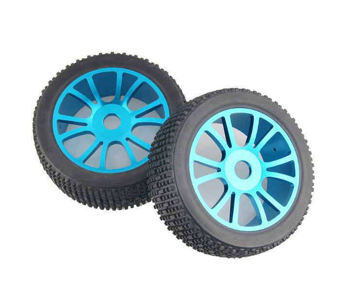 4pcs 1 8 Buggy tires OFFROAD tyres with Aluminium alloy wheel hub fit for HSP NANDA