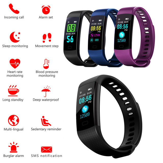 c6383c7726dc US $15.66 29% OFF|Smart Watch Sports Fitness Activity Heart Rate Tracker  Blood Pressure Watch Apr25-in Smart Watches from Consumer Electronics on ...