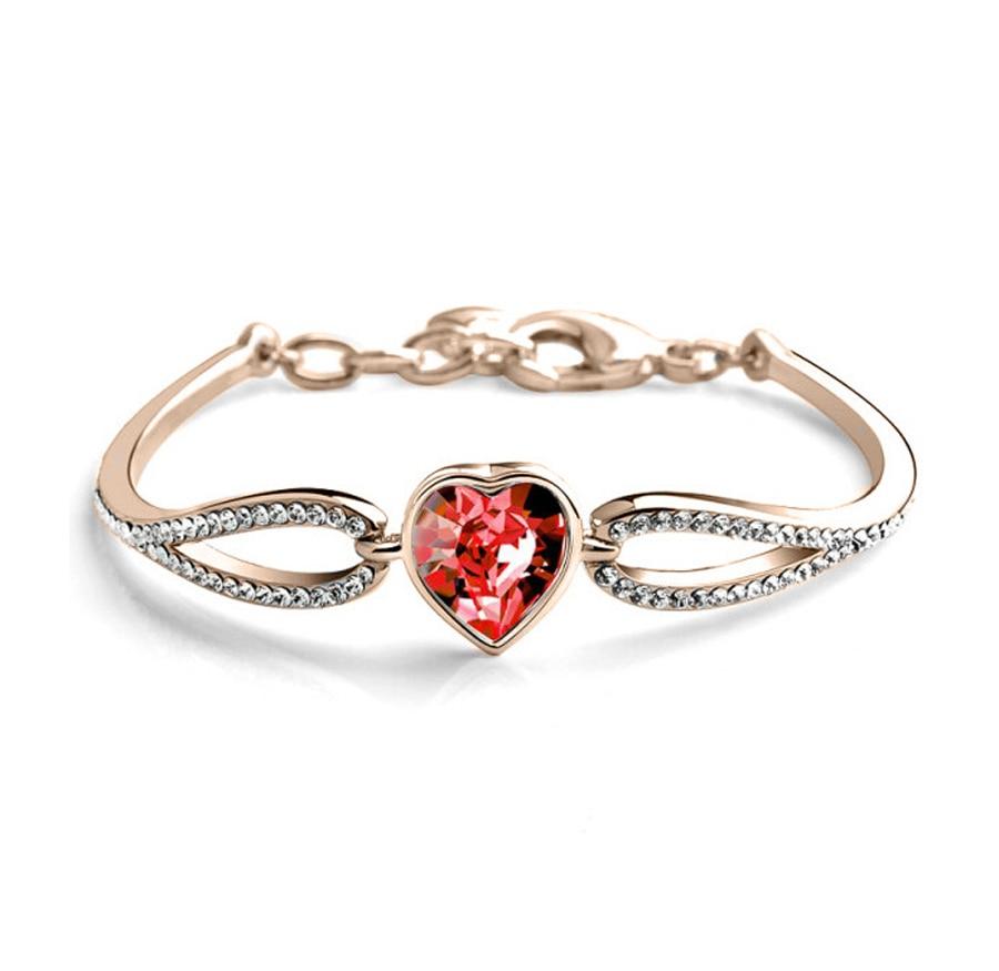 Crystal sieraden fabriek in Yiwu buitenlandse handel sieraden Oostenrijkse kristal hart armband Koreaanse armband 1430