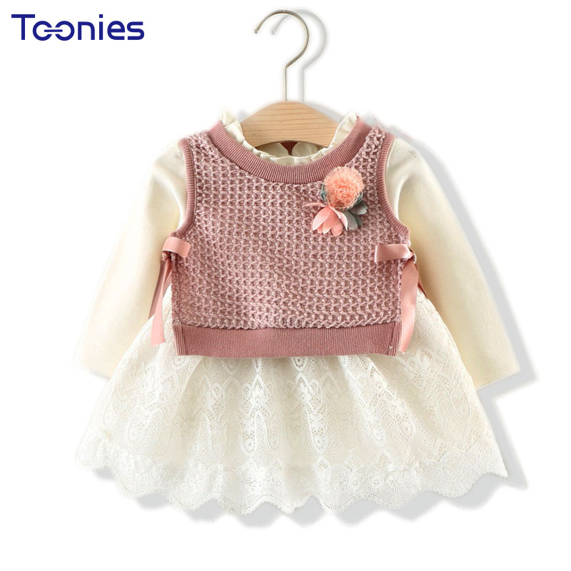 Cute Girls Skirt Suits New Design Princess Girl Suit Spring Autumn Children Clothes Lace Flower Decoration Kids School Uniform 2016 autumn and spring new girl fashion cowboy short jacket bust skirt two suits for2 7 years old children clothes set