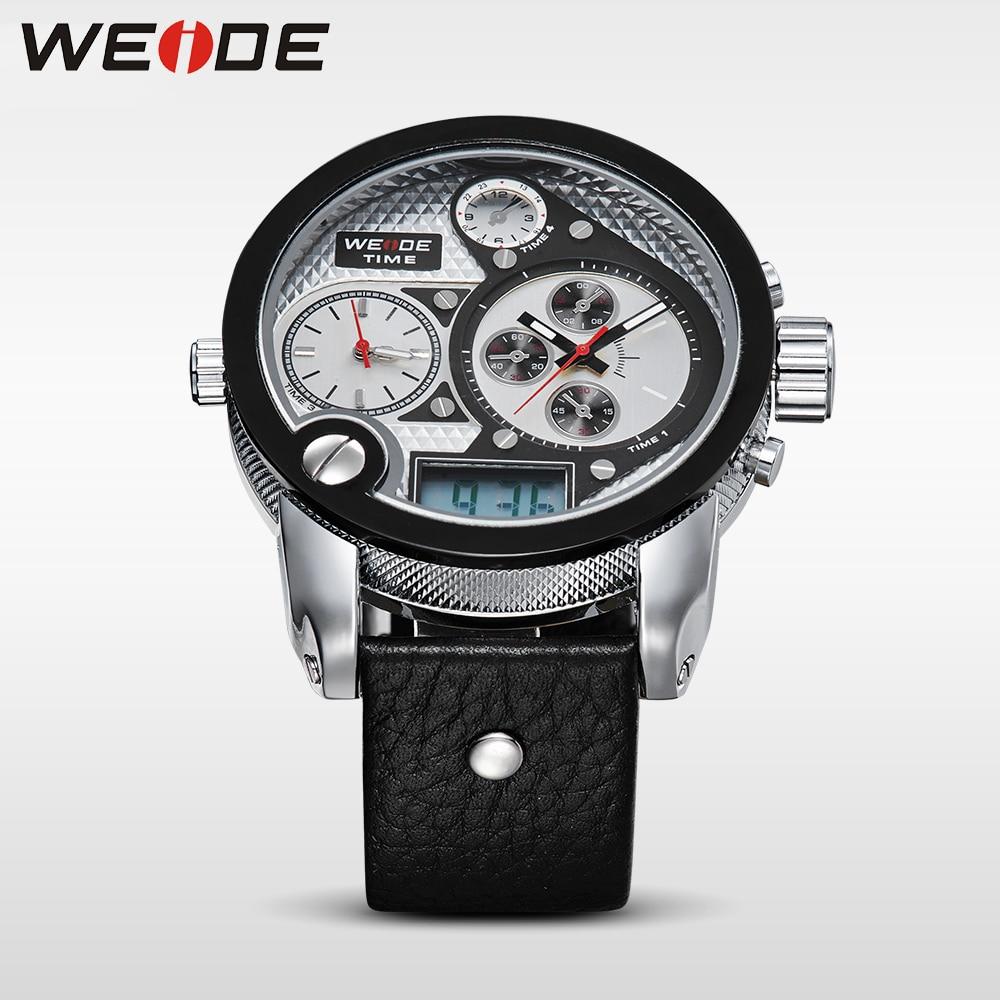 WEIDE Marka Mężczyźni Vintage Wielu Zegarek LCD Quartz 3ATM - Męskie zegarki - Zdjęcie 5
