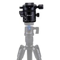 PULUZ 360 Degree Panoramic Head Aluminum Alloy 1/4'' 3/8'' Ballhead Rotator Quick Release Plate for Camera Tripod Head Adapte