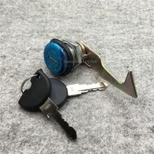 Yecnecty для A8/Сокол/Queen/большая черепаха король Аксессуары для мотоциклов задний багажник lock + 2 Ключи скутер хвост флажок lock ремонт Запчасти