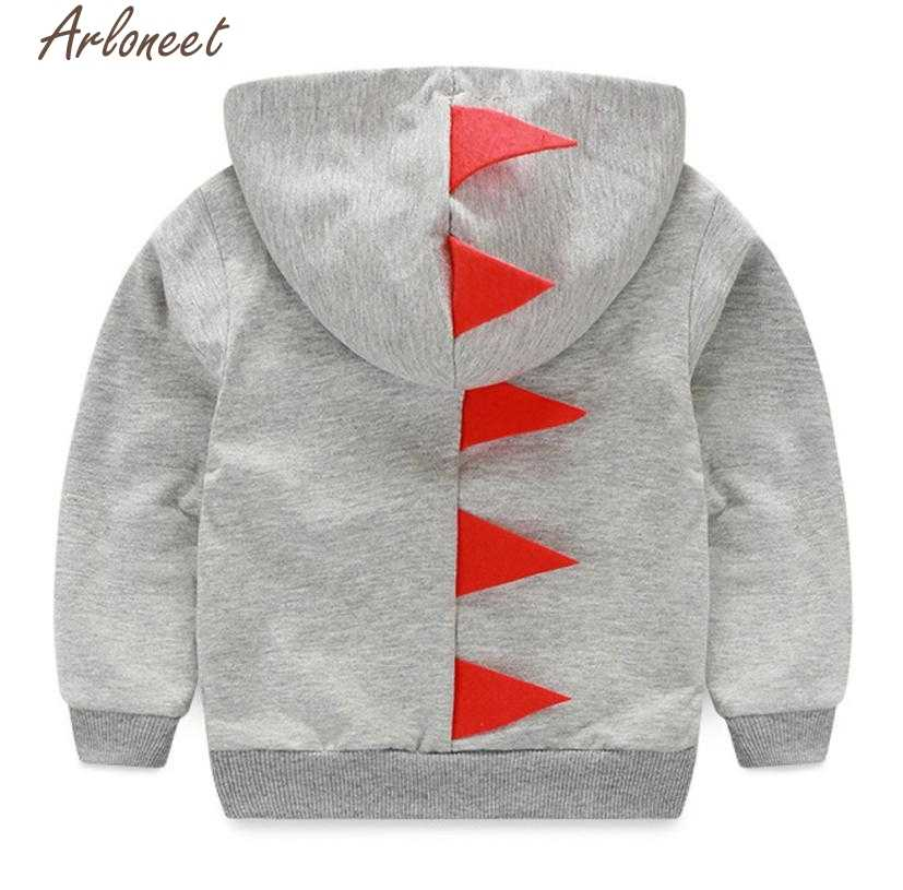 ARLONEET ילדי ילד בגדי תינוקות פעוט תינוק ילד ילדה דינוזאור דפוס ברדס רוכסן חולצות בגדי מעיל P30 Dec20