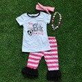 Детские Девушки Летняя одежда новорожденных девочек бутик одежды девушки вы хотели бы цыпленок, как девушки наряды с accessoreis
