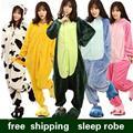 Traje de Pijama de dormir caliente de la moda de Invierno batas de dormir 2016 casa Novedad vestido túnica Tigger Victoria Jirafa panda