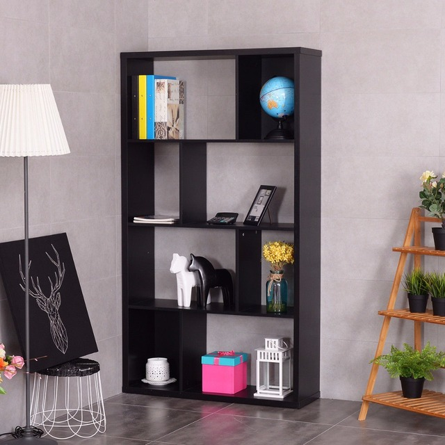 Giantex Modern Bookshelf Studio Display Stand Home Office Multipurpose  Study Bookcase Living Room Storage Display Rack