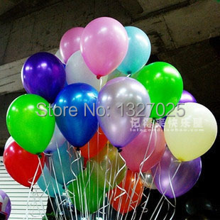 Shipipng 100 PCS/lot free latex helium Inflable thickening pearl wedding party b