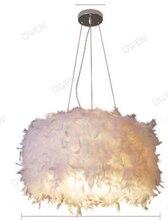 Перо свет перо люстра освещение спальня гостиная люстра пять слоя перьев доставка superden