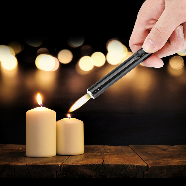 Outdoor Metal torch lighter Barbecue Charcoal Gas Cooker Stove lighter Kitchen Igniter Gun Lighter butane torch soplete cocina 3